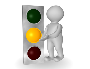 traffic light yellowの写真素材 [FYI00811011]