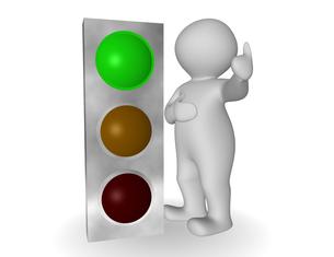 traffic light greenの写真素材 [FYI00811020]