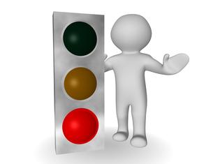 traffic light redの写真素材 [FYI00811038]