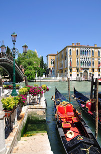 palazzi on the grand canal in veniceの写真素材 [FYI00811677]
