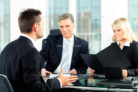 business - interview for applicationの写真素材 [FYI00812909]