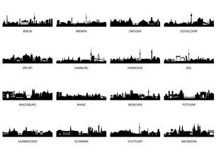 germany main citiesの写真素材 [FYI00814207]