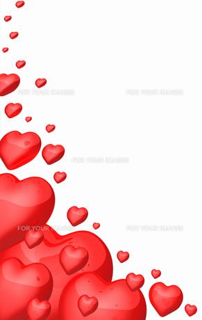 red heart in corner - optionalの写真素材 [FYI00814358]