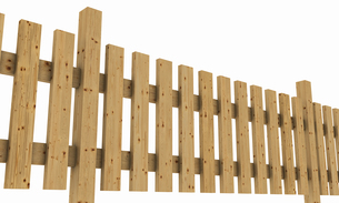 3d wooden fence - light brown exempted 02の写真素材 [FYI00814379]