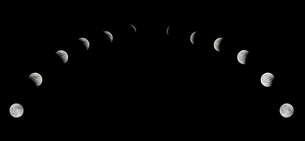 lunar eclipse phasesの素材 [FYI00815516]