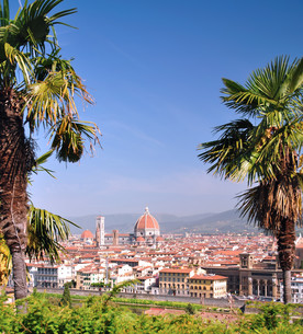 view of florence from the piazzale michelangeloの素材 [FYI00815533]