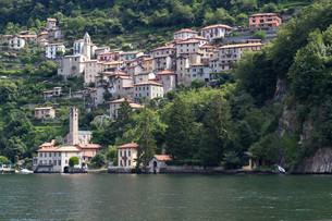 the picturesque village careno on lake como,northern italyの写真素材 [FYI00816646]