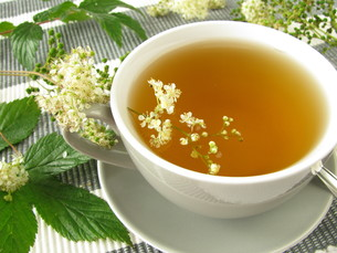 meadowsweet teaの写真素材 [FYI00817596]