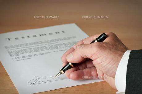 write testamentの写真素材 [FYI00818116]
