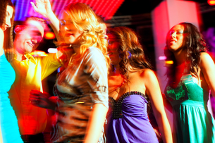 people at party in disco or clubの素材 [FYI00819261]