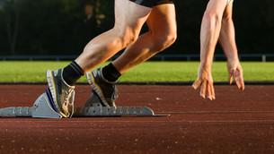 sprinter at startの写真素材 [FYI00819755]