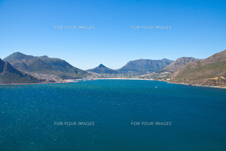 hout bay south africa-famous film set on chapmans peakの写真素材 [FYI00819962]