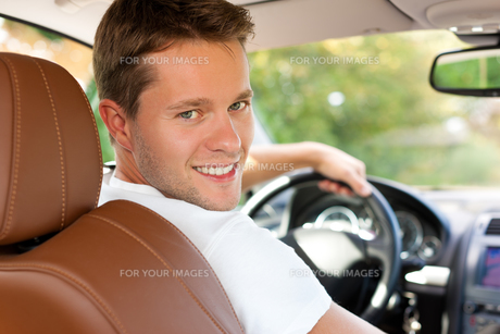 driver in his car or busの素材 [FYI00820921]