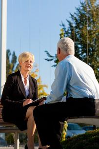business coaching outdoorsの写真素材 [FYI00820929]