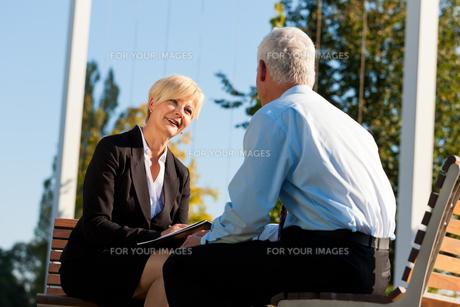 business coaching outdoorsの写真素材 [FYI00820930]