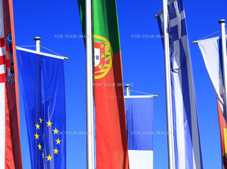 flags of the european union,portugal,greeceの素材 [FYI00820936]