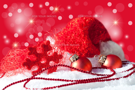 christmas hat with decorationの写真素材 [FYI00821185]