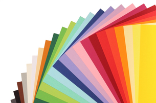 color theory - colorful cardboardの写真素材 [FYI00821324]