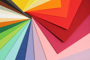 color theory - colorful cardboardの写真素材 [FYI00821341]