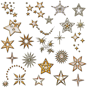 set of stars. design element. star icons. christmas golden design elements.の写真素材 [FYI00821492]