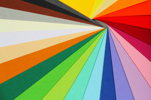 color theory - colorful cardboardの写真素材 [FYI00822480]