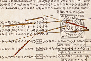 acupuncture needlesの写真素材 [FYI00822549]