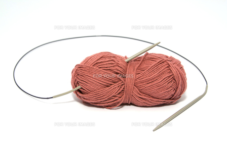 wool with knitting needle 1の素材 [FYI00822679]