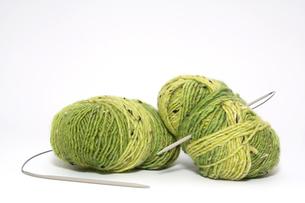 wool with knitting needle 1の素材 [FYI00822681]