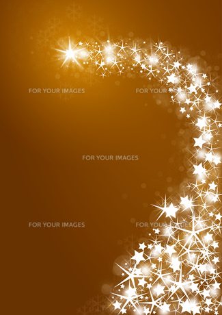 golden christmas background with bright starsの写真素材 [FYI00823984]