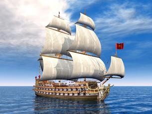 double sailboatの写真素材 [FYI00824186]