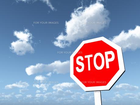 stop signの写真素材 [FYI00824187]