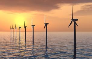 offshore wind farmの写真素材 [FYI00824231]