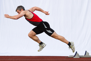 sprint startの写真素材 [FYI00825245]