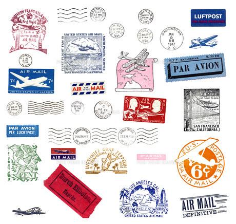 old postmarkの写真素材 [FYI00826145]