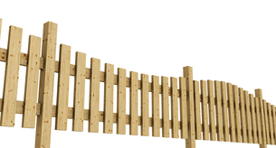 3d wooden fence - light brown exempted 04の写真素材 [FYI00828061]
