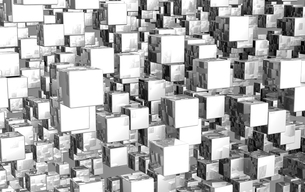 mega cubes background silver 03の写真素材 [FYI00828088]