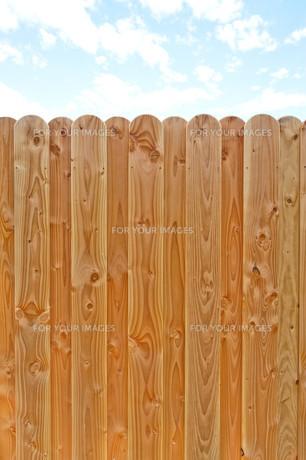 wooden fenceの写真素材 [FYI00828131]