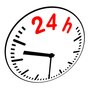 24h service - timeの写真素材 [FYI00828665]
