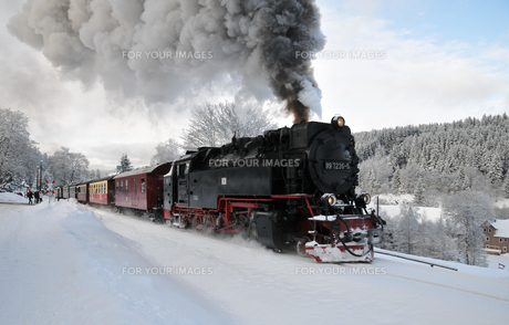 steam locomotive in custodyの写真素材 [FYI00828729]