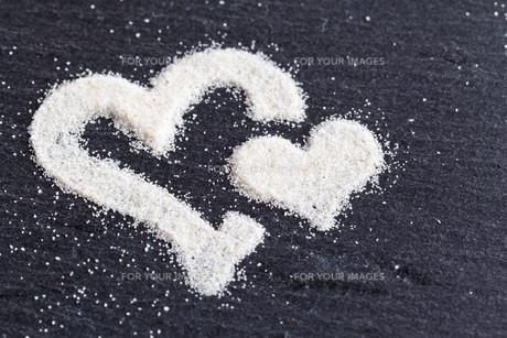 heart made of sandの素材 [FYI00829635]