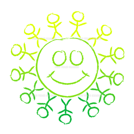mandala - we are one happy worldの写真素材 [FYI00831355]