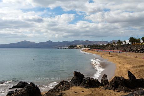 puerto del carmen,lanzarote,spain,beachの写真素材 [FYI00832517]