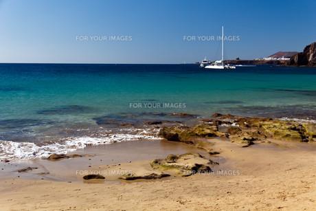 playa papagayo lanzaroteの写真素材 [FYI00832646]