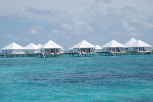 water bungalow maldivesの写真素材 [FYI00832891]
