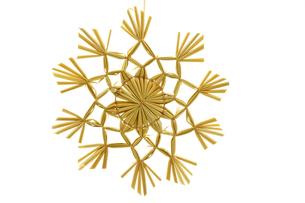 straw star as christmas tree decorationsの素材 [FYI00833302]