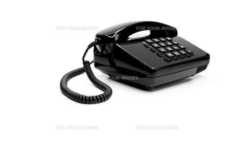 classic black telephone from the eightiesの写真素材 [FYI00833338]