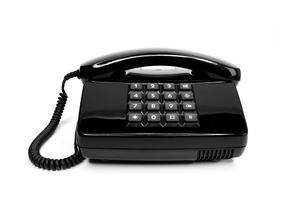 classic black telephone from the eightiesの写真素材 [FYI00833354]