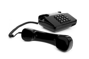 classic black telephone from the eightiesの写真素材 [FYI00833444]
