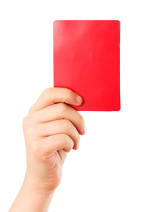 red card in handの素材 [FYI00833946]