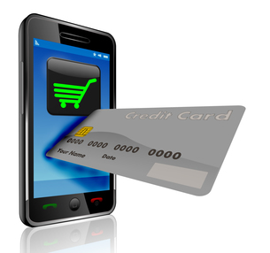 shopping - smartphone with credit cardの写真素材 [FYI00834376]